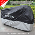 New Motorcycle Cover  Water Proof Motorcycle Black  Sliver Down with Logo 210t Material Motocycle for small bike in 86 inch