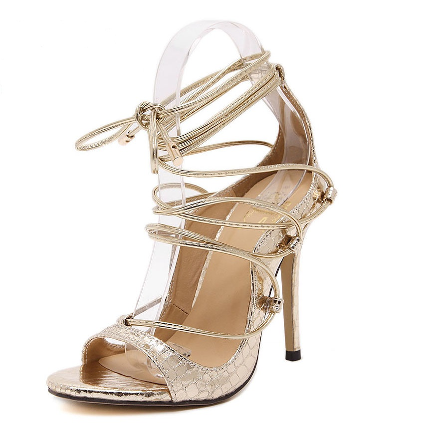 Compare Prices on Gold Strappy High Heels- Online Shopping/Buy Low ...