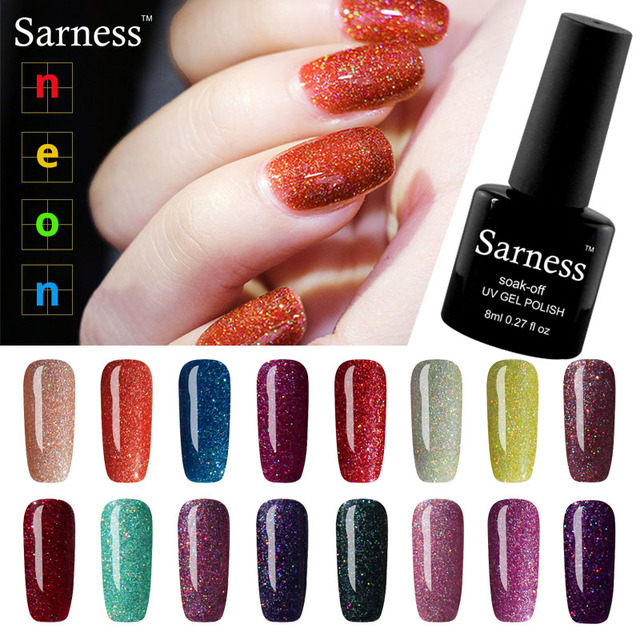 Sarness Sexy Soak Off Nail Glitter Sequin Nails Gel Polish Nail Art