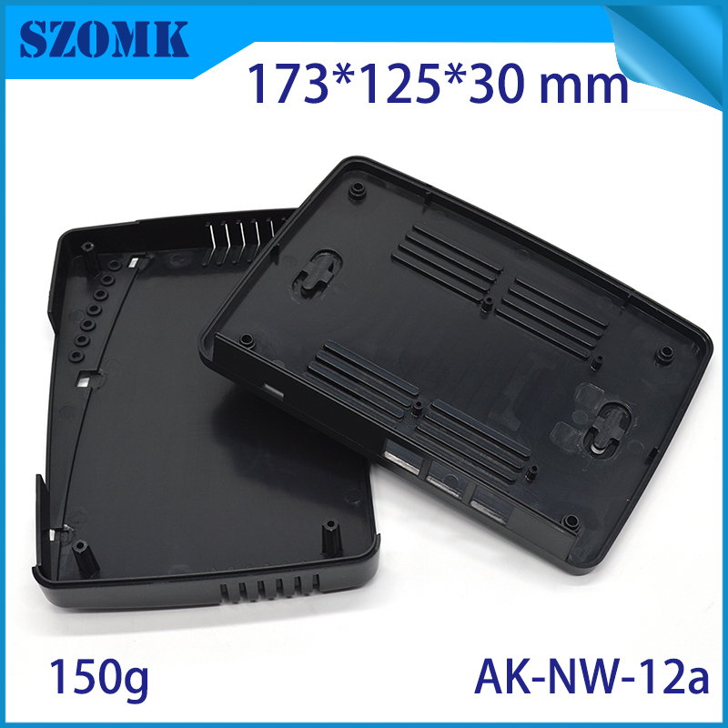 SZOMK hot sales WIFI router plastic enclosure box plastic enclosure electrical junction box case for network internet device 1 piece 160 110 33mm hot sales plastic rfid electronics enclosure for pcb junction box ic card reader plastic housing case