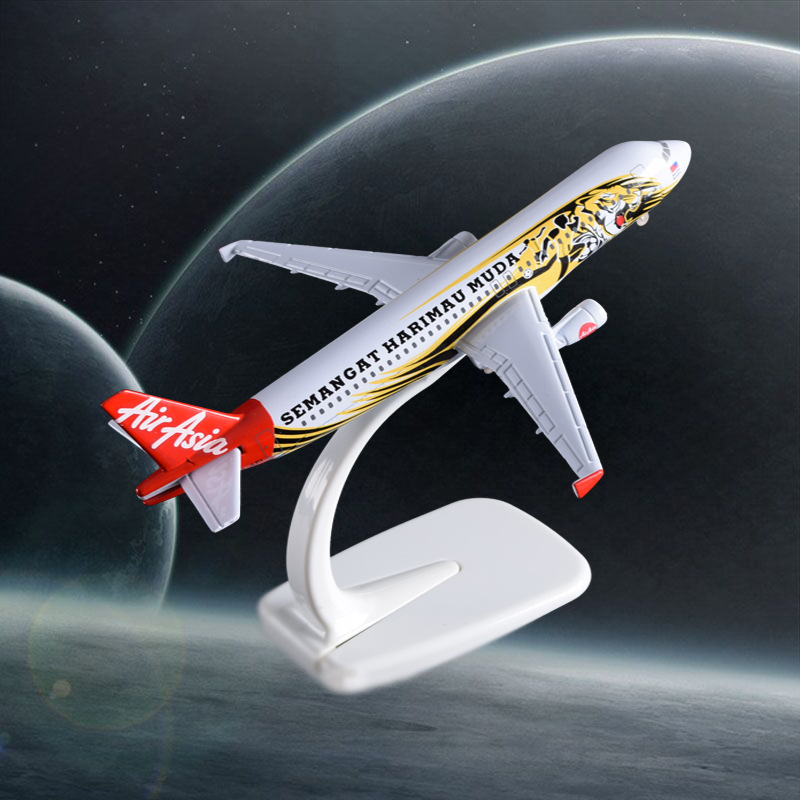16cm A320 Asian Tiger Airways Aircraft Model Air Aisa Airline Airplane Alloy Model Airbus Birthday Holiday Gifts Travel Souvenir
