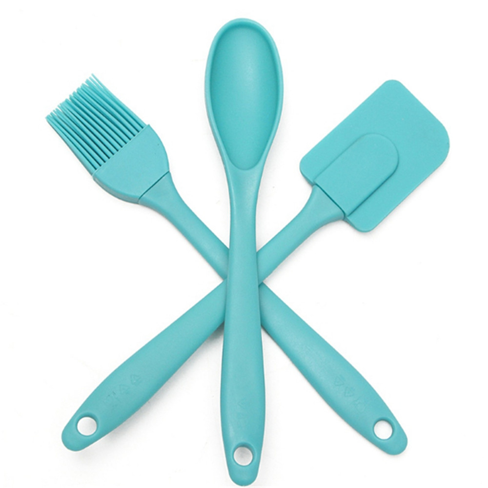 KECTTIO 3PCS/Set Silicone Spatula Spoon Brush Kitchen Cooking ...