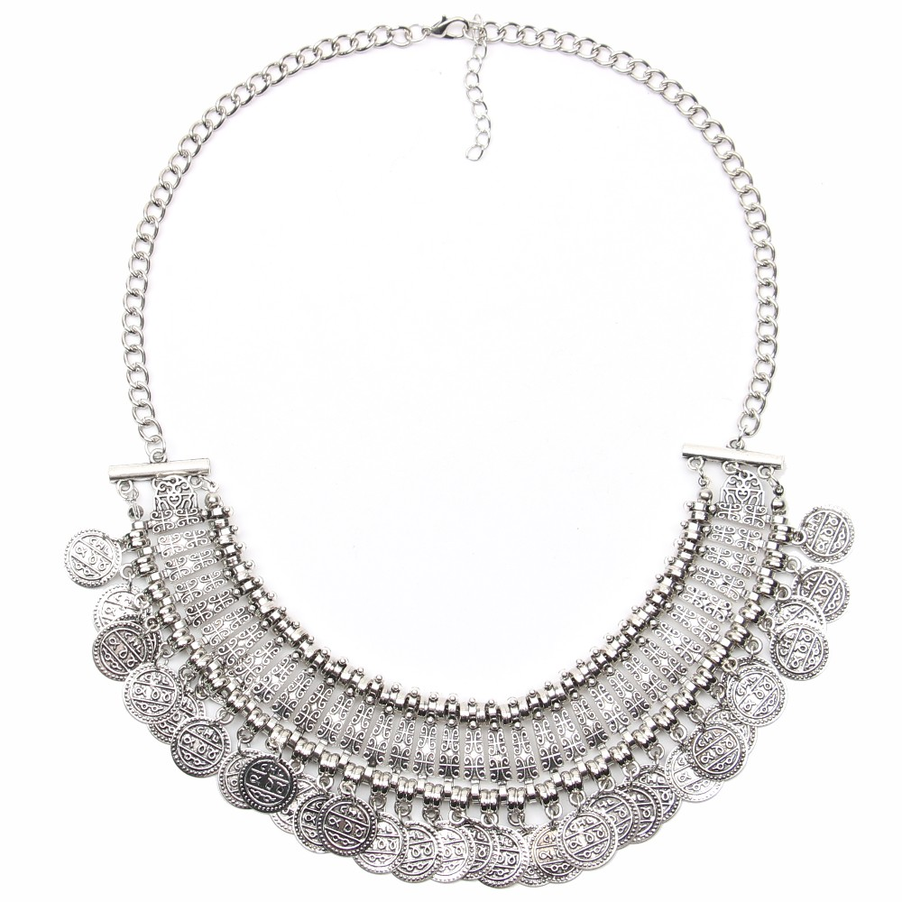 Ztech 18 Women Necklaces & Pendants Vintage Crystal Maxi Choker Statement Collier Femme Boho Big Fashion Jewellery Wholesale 17
