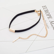 Black and Brown Velvet Choker Necklaces