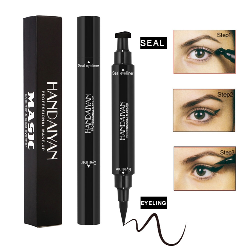 Back To Search Resultsbeauty & Health Handaiyan Brand Black Double-headed Eyeliner Pencil With Miss Stamp Seal Maquiagem Waterproof Wing Eye Liner Cosmetics Eyeliner