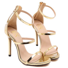 bc40dffe71 Buy gold metallic heels and get free shipping on AliExpress.com