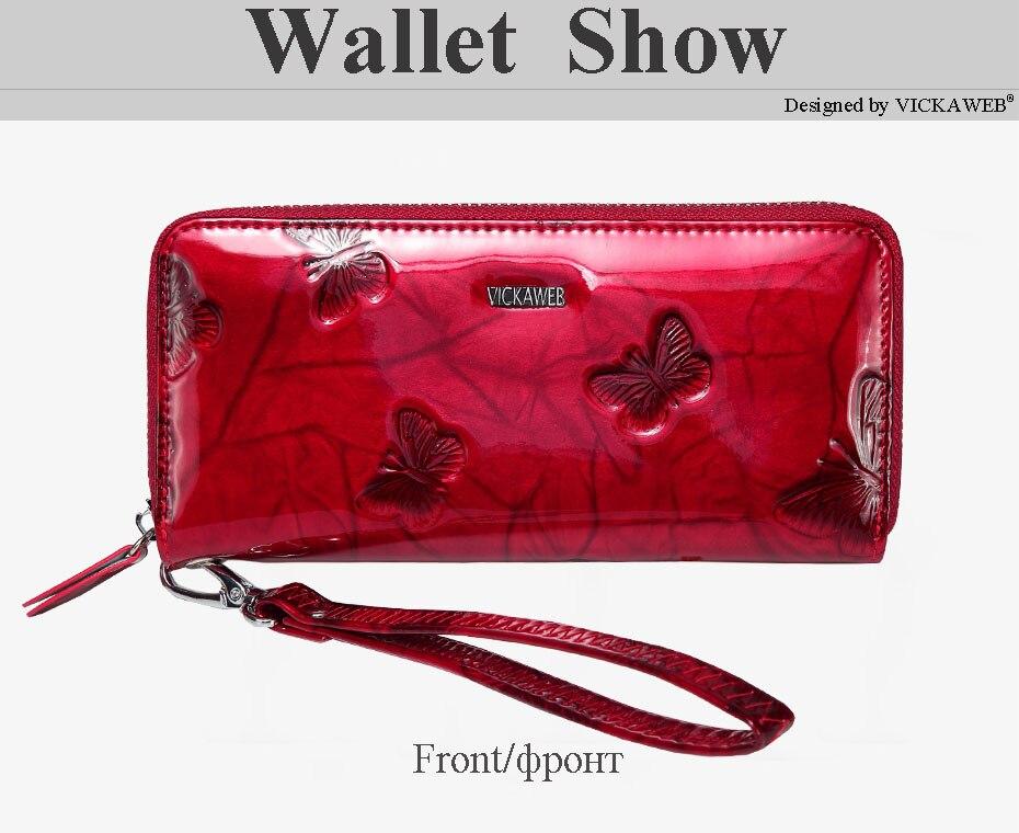 VICKAWEB Wristlet Wallet Female Animal Prints Women Wallets Genuine Leather Purses Ladies Fashion Zipper Purse Standard Wallets-PJ38-014