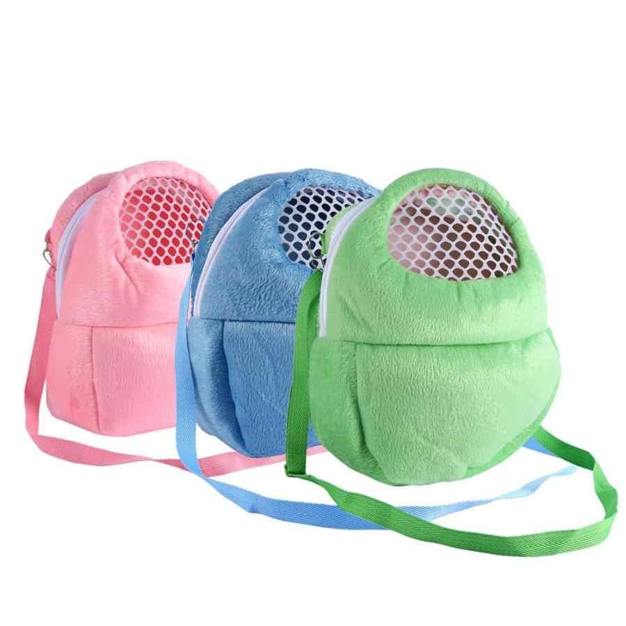 3 ألوان حامل حيوانات أليفة الهامستر الجرذ القنفذ شينشيلا النمس النوم في الهواء الطلق السفر المحمولة السفر شبكة حقيبة حمل الحيوانات الأليفة
