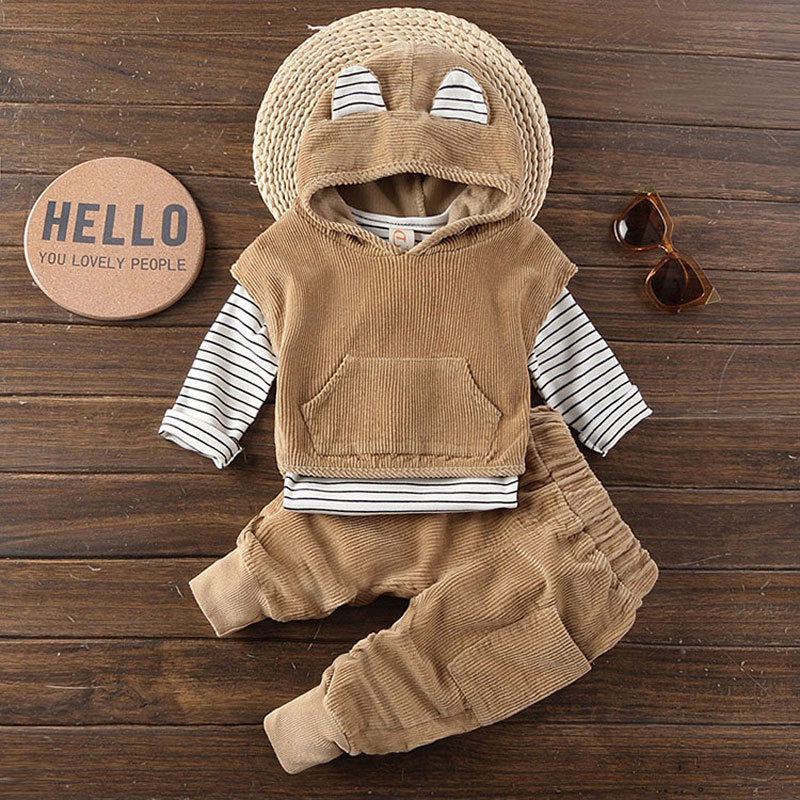 Little bayb boys children spring fall clothing 3pcs set track suit for kids boys baby clothes outfits hooded striped sets suits fall 2017 kids sets cotton boys clothing children s sports suits teenage kids clothes casual hooded 3 piece suit kids clothes