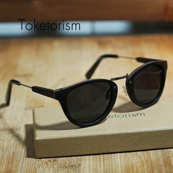 Toketorism vintage wood sunglasses men polarized handmade skateboard original wooden zonnebril dames 2606