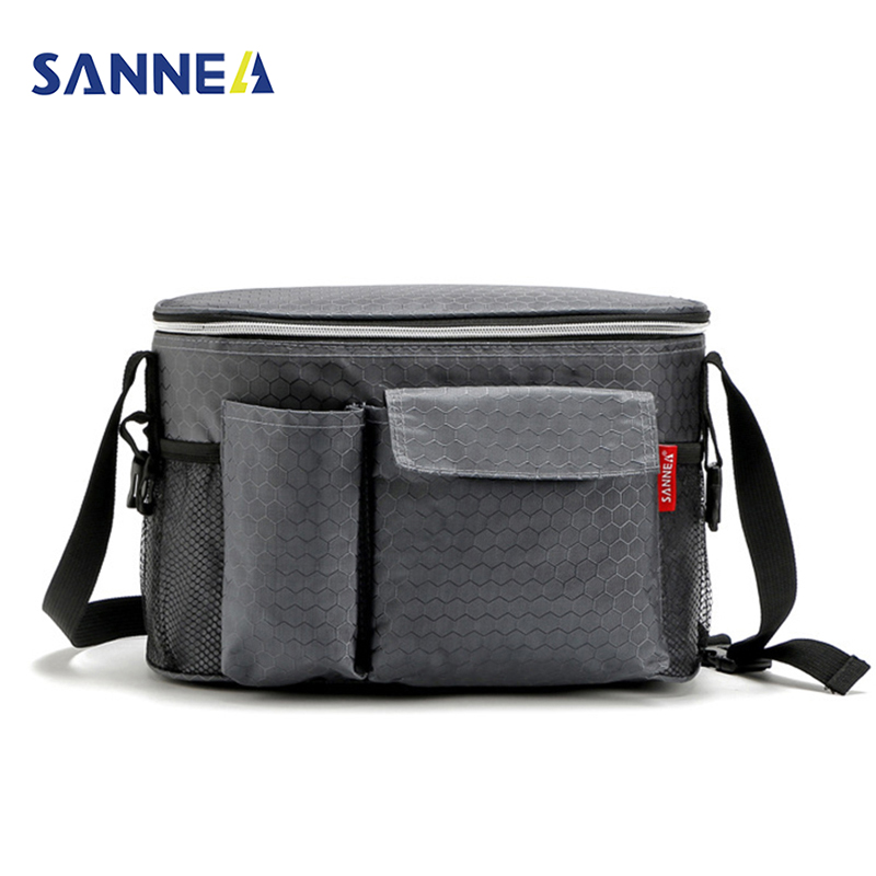купить SANNE 8L Oxford Thermal Lunch Bags for Women Adults Men Food Lunch Picnic Cooler Bag Insulated Storage Container W/ Bottle Bag по цене 916.13 рублей