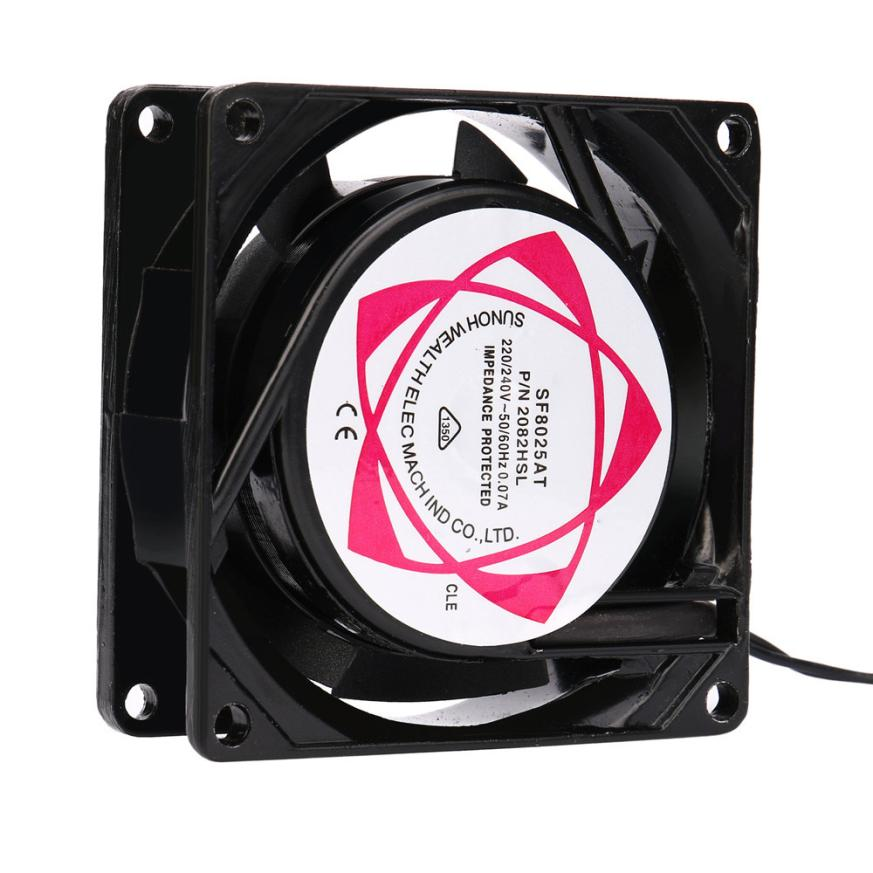 20V 240V 8cm 80mm x 80mm x 25mm AC Metal Brushless Cooling Industrial Fan JUL14 Dropship