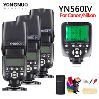 yongnuo YN560 IV YN560IV 2.4G Wireless Master&Group flash Speedlite + YN560TX For Nikon Canon Pentax Olympus Pentax DSLR Camera