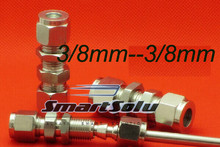 Бесплатная доставка 2 шт./лот 3 мм-8 ММ трубы из нержавеющей стали переборки компрессионные фитинги из нержавеющей стали перегородки разъемы