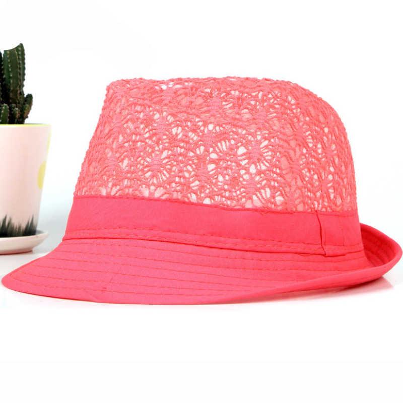 674adbe18c08e ... HT1581 Spring Summer Men Women Hat Unisex Wide Brim Fedora Hat Neon  Colors Derby Trilby Jazz