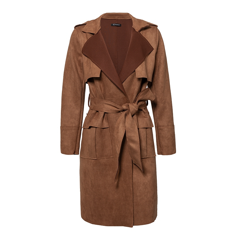 Simplee-Turn-down-collar-sash-suede-trench-coat-Casual-leather-pocket-long-women-autumn-coat-Winter
