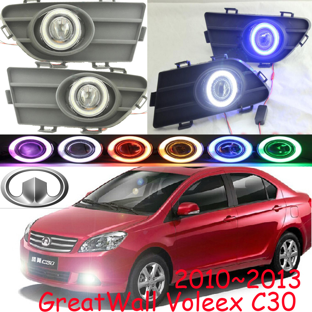 Great Wall VOLEEX C30 fog light ,2010~2013;Free ship!VOLEEX C30 daytime light,2ps/set+wire ON/OFF:Halogen/HID XENON+Ballast,C30 for great wall voleex c30 2013 side mirror rearview mirror assembly exterior mirrors 5 wire blue lens
