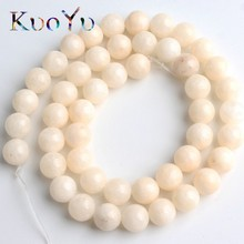 Natural White Angelite Stone Beads Round Loose Spacer Beads 15''Strand 4/6/8/10/12mm For Jewelry Making DIY Bracelets Necklace