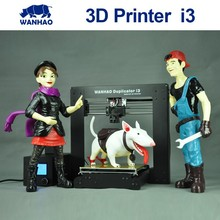 Hot selling Popular Upgraded WANHAO Desktop Metal Reprap Prusa 3D Printer I3 with 2 rolls filament and SD card as Christmas gift