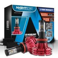 NIGHTEYE H11 LED De Voiture Phares Kit 10000LM 60 W 6500 K Auto LED lumières Ampoules Automobile LED lampe 12 V 24 V Lumière H11 Voiture Éclairages