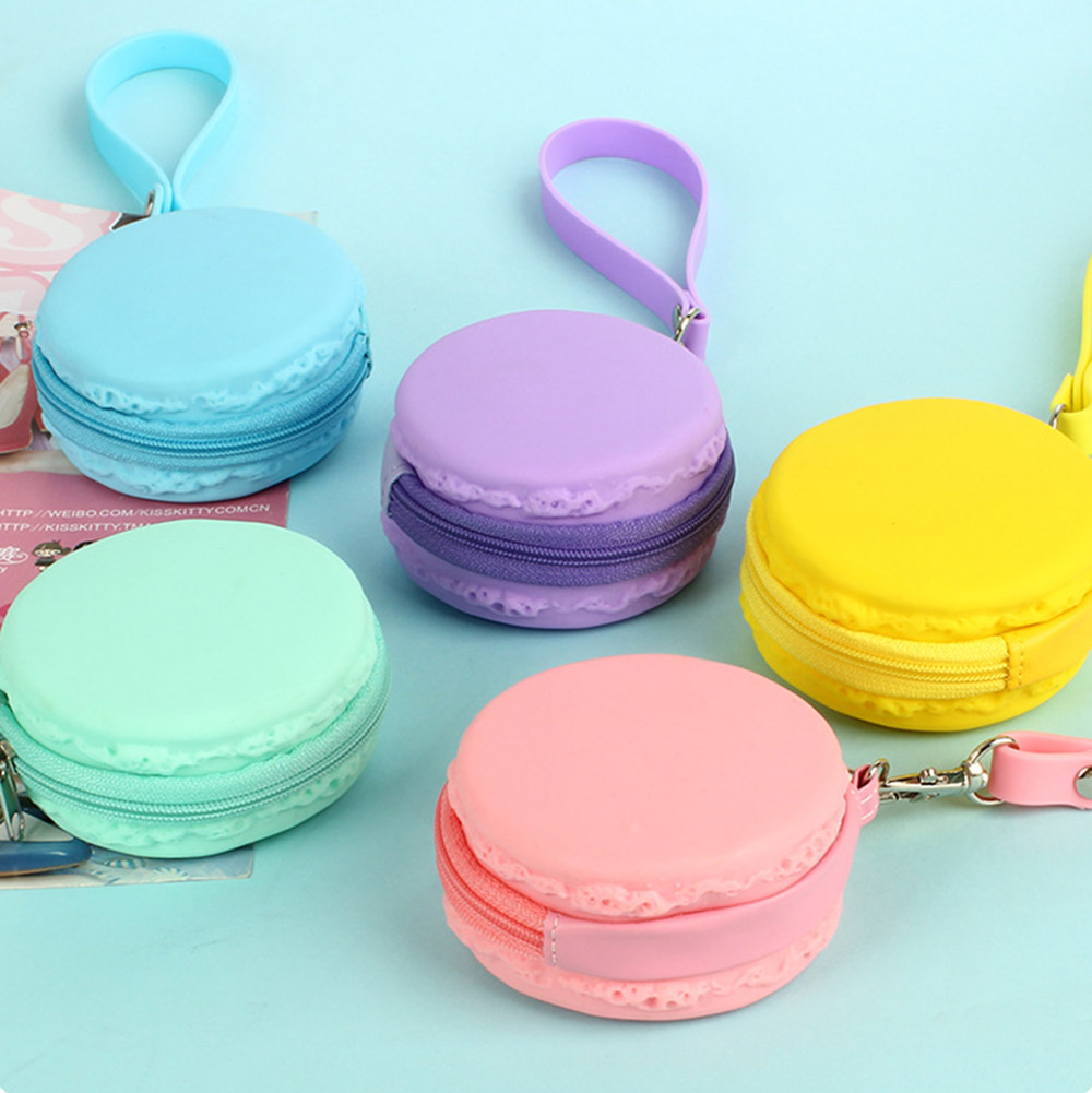 Case Wallet Purses Earphone Wire-Storage Macaron Coin Portable Box-Bag Pouch Key HG0257