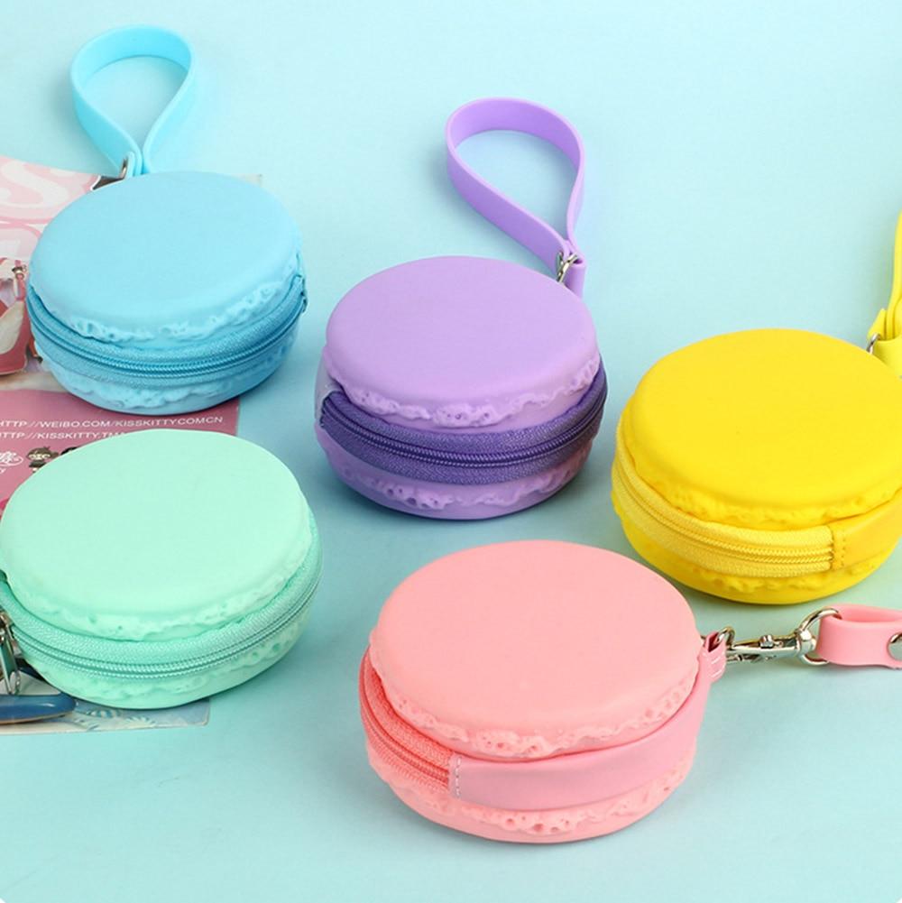 Colorful Macaron Portable Earphone Wire Storage Pouch Headphone Box Bag Coin Purses font b Wallet b