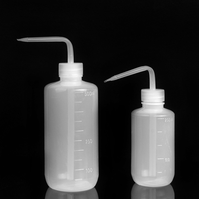 2pcs 2 Sizes Professional Tattoo Green Soap Wash Clean Squeeze Diffuser Bottles 250ML 500ML