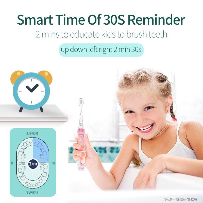Furça furçë dhëmbësh SEAGO për Fëmijët Dhëmbët e Baterive - Kujdesi personal - Foto 5