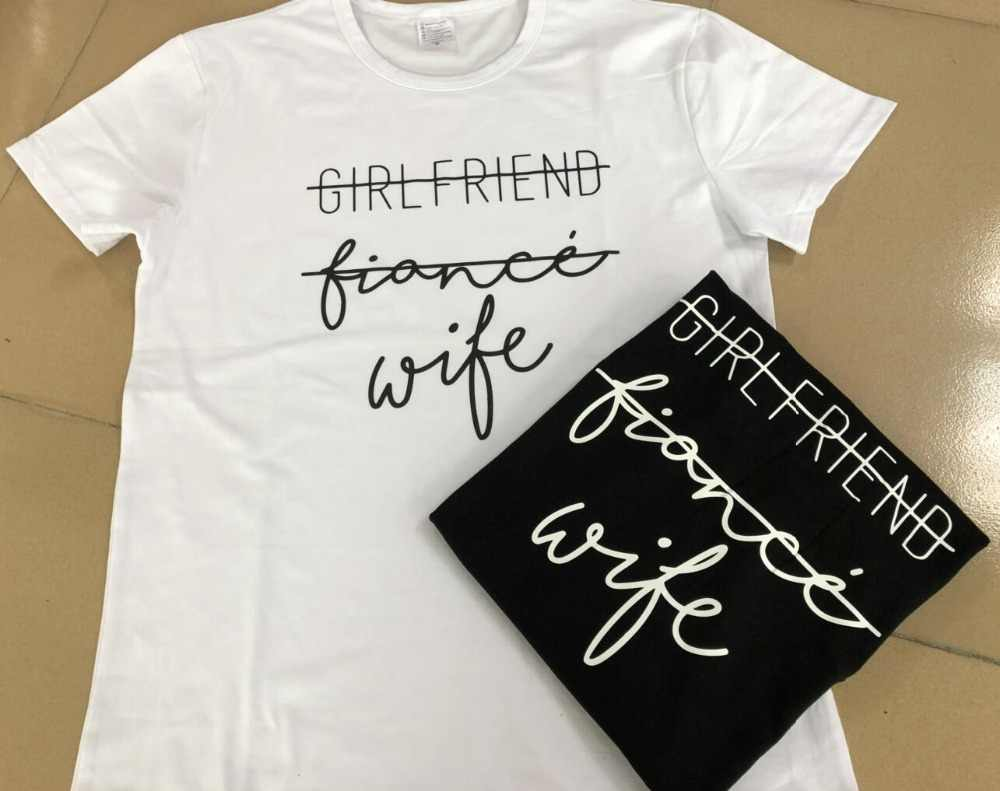Detail Feedback Questions about Girlfriend Fiance Wife T Shirt Future Mrs  Tumblr Tee Engagement Gift Fiance Shirt Bachelorette Party Tops Trendy  Cotton ... 62a479151298