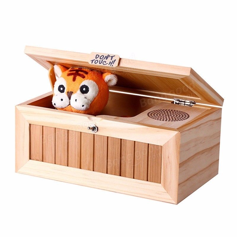Dont Touch Cartoon Lovely Creative Tiger Useless Box Funny Box Toys For Children Reduction Desk Decoration