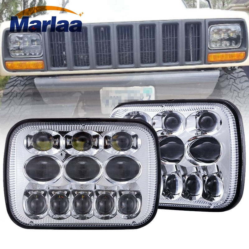 Marlaa 5x7 7x6 inch LED Headlights Kit for Jeep Cherokee XJ Wrangler YJ Comanche MJ Toyota Tacoma Pickup MR2 Supra Nissan 240SX 31x12x3 inch universal turbo fmic intercooler 3 inch piping kit toyota supra mkiii mk3 7mgte