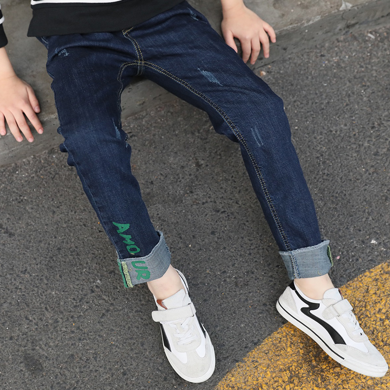 Hot Big Boys Jeans Kids Pants Children Trousers Korean Kids Clothes Boy Jeans Pants Teenage Boy Denim Pants Age 5 8 11 13 Year Buy Cheap In An Online Store With