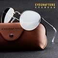 Silver Portable Foldable Folding Sunglasses Polarized Mens Womens Fashion Retro Vintage SunGlasses Driving Mirrored Eyewear 3532