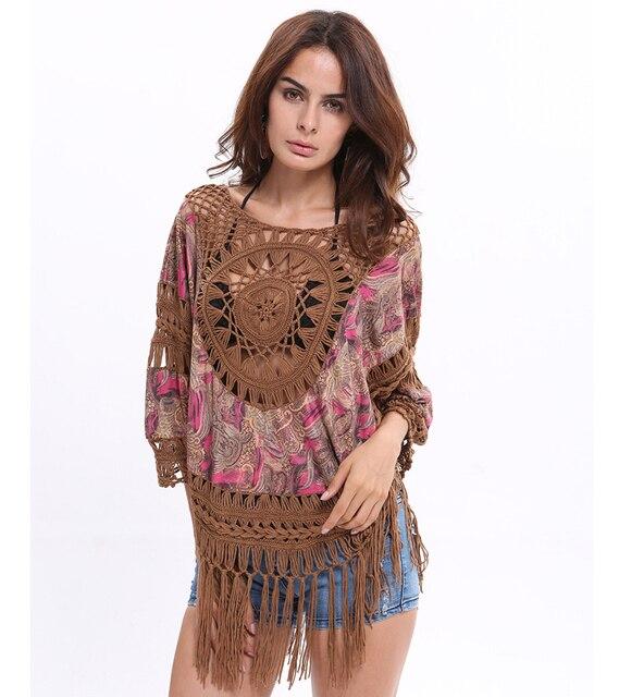 Supernova Sales Of Luxury Fringed Shirt Summer Women Bat Sleeve Shirt Vetement Femme Woman Dress Casual Dress Boho Tops