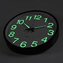 12 Inch Moon Luminous Silent Wall Clocks Home Decor Digital Wall Clock Relogio De Parede Electronic Clock on The Wall 2019 New