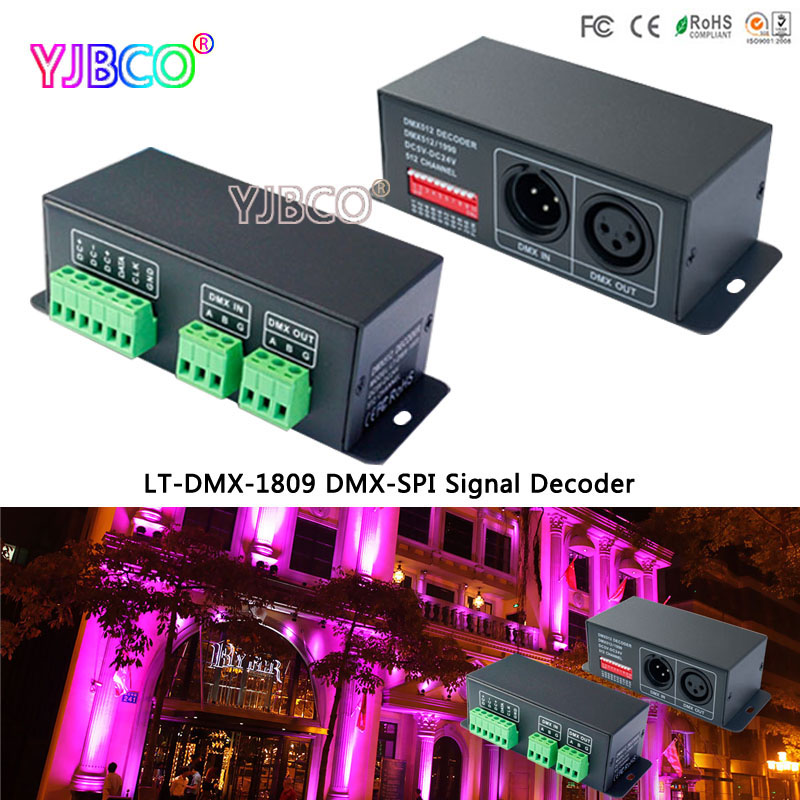 LT-DMX-1809 DMX Decoder;DMX-SPI signal convertor, support TM1804/TM1809/WS2811/WS2812B for led stripLT-DMX-1809 DMX Decoder;DMX-SPI signal convertor, support TM1804/TM1809/WS2811/WS2812B for led strip