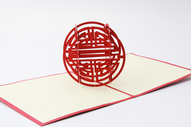 Blessing Birthday Card 3D Kirigami Handmade Greeting Cards Gift For Men Free Shipping