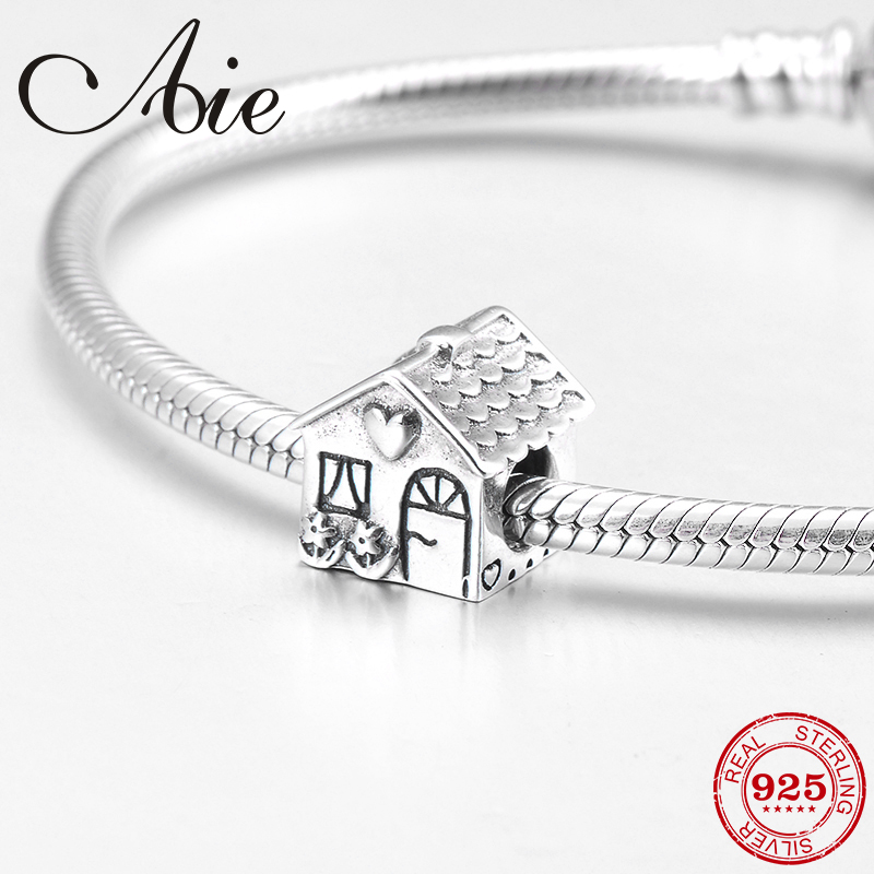 Home Sweet Home happy Family Charm Bead Genuine 925 Sterling Silver mum
