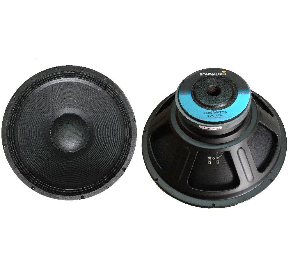 "STARAUDIO 2Pcs Pro 3500W 18"" Raw PA DJ Speaker Replacement 8 Ohm Woofer 70 oz Magnet Sub woofers SDC-1870"