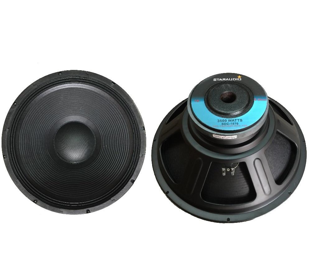 Staraudio sdc 1870 2pcs pro 3500w 18 raw pa dj speaker subwoofers 8 ohm