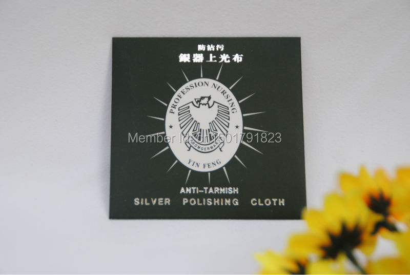30% Off Wholesale - Flannelette Silver Cleaning Cloth Silver Polishing Cloth 10x6cm 50PCS/lot MIX Free Shipping