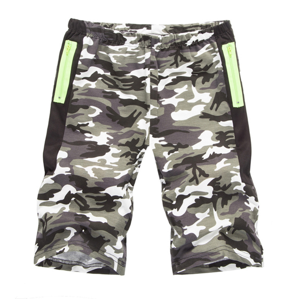 2018 Fashion Mens Shorts Camouflage Camo Casual Elastic Waist Shorts Men Summer Outwear Knee Length Hip Hop Short Homme