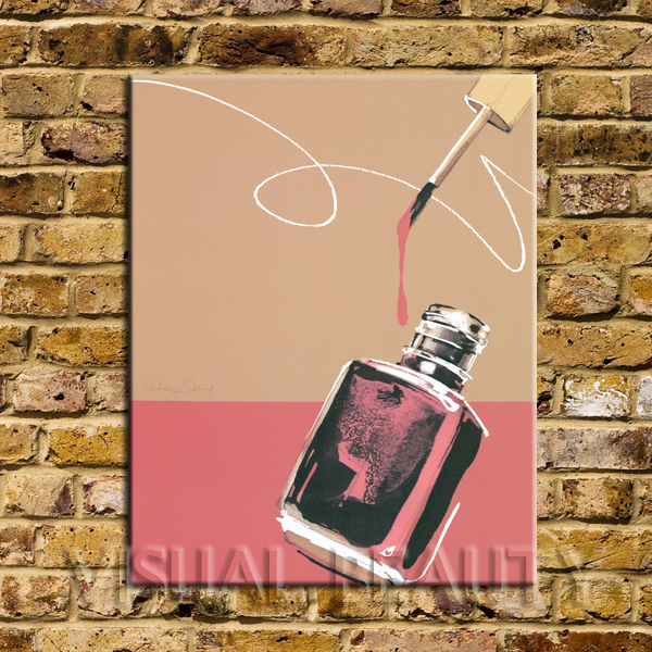 Free Shipping Red Colored Nail Polish Image Painting Arts Print On Canvas Fashion Picture For