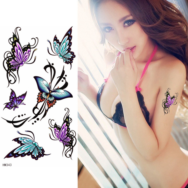 интимные временные татуировки бабочка