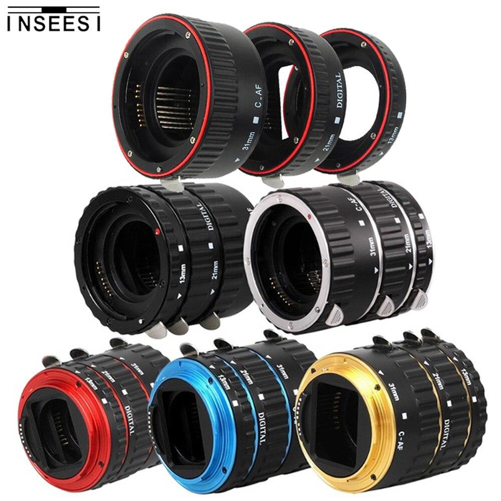 Adaptateur d'objectif à monture métallique Auto Focus AF Macro anneau d'extension pour objectif Canon EOS EF-S 750D 80D 7D T6s 60D 7D 550D 5D Mark IV
