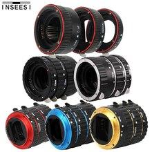 Metal Montaj Lens adaptörü Otomatik Odaklama AF Makro Uzatma Tüpü Halka Canon EOS EF S Lens 750D 80D 7D T6s 60D 7D 550D 5D Mark IV