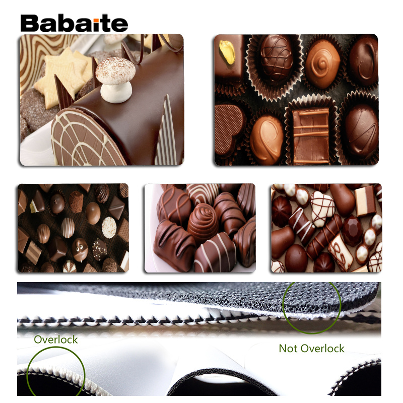Babaite New Design Chocolate Large Mouse pad PC Computer mat Size for 18x22cm 25x29cm Rubber Mousemats