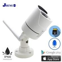 JIENUO WIFI מצלמה IP 1080P 960P 720P אודיו חיצוני טלוויזיה במעגל סגור אבטחת בית HD מעקב עמיד למים אלחוטי אינפרא אדום בית מצלמות