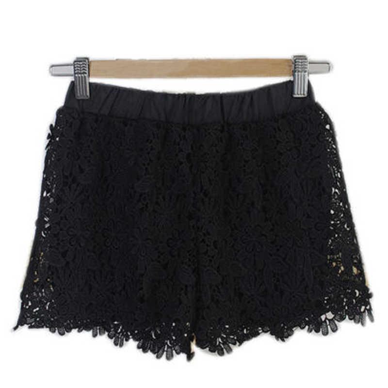 Wanita Musim Panas Renda Celana Pendek Bunga Musim Panas Baru Wanita Mini Jala Renda Merenda Bunga Berjenjang Wanita Celana Pendek Musim Panas Pakaian