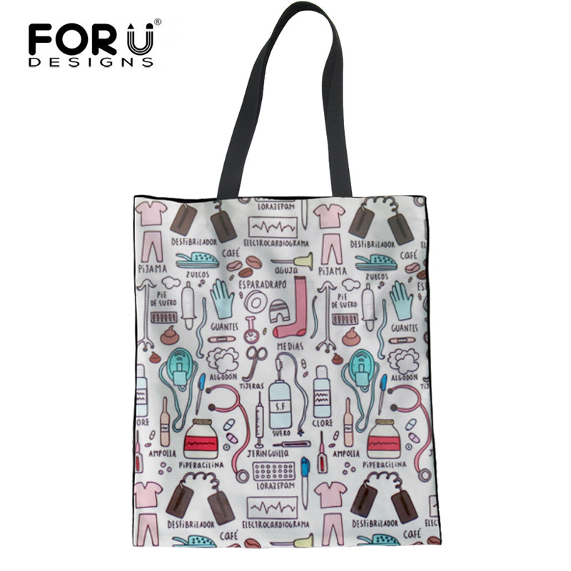 c7cd05fde2 White Coogel Women Cute Canvas Tote Shoulder Bag Casual Beach Eco Shopping  Bags Handtaschen